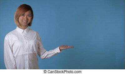 portrait beautiful korean girl HD video prores - young asian...