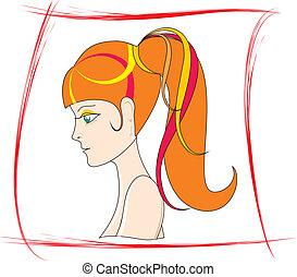 Portrait beautiful Women hairstyle
