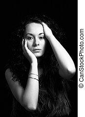 portrait, black-white