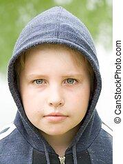 boy in hood