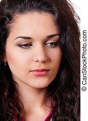 Portrait brunette girl
