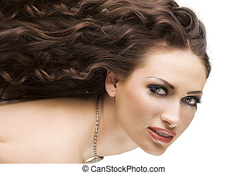 portrait brunette with hairstyle
