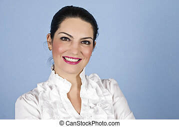 Portrait business woman smiling - Portrait of smiling...