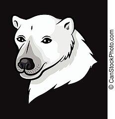 Portrait cartoon polar bear