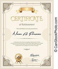 portrait, certificat, accomplissement