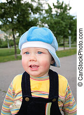 portrait child on street