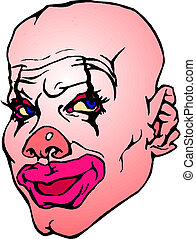 portrait, clown