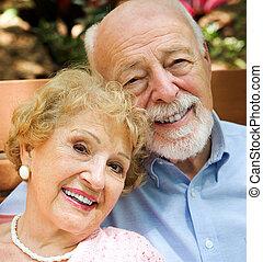 portrait, couple, personne agee