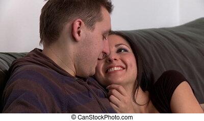 portrait, couple, romantique