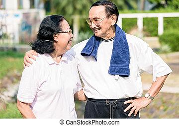 portrait, couples aînés