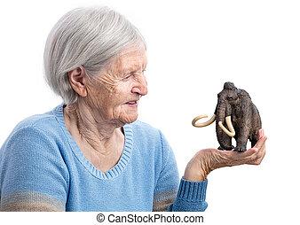 portrait, de, a, femme aînée