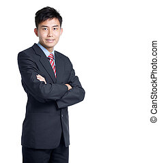 portrait, de, asiatique, chinois, homme affaires