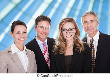 portrait, de, businesspeople