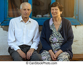 portrait, de, grands-parents