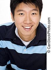 portrait, de, homme asiatique