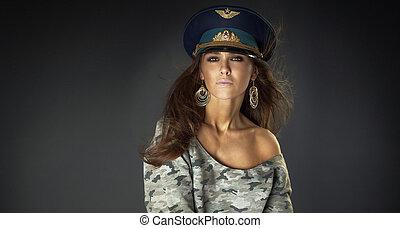 portrait, de, sexy, femme