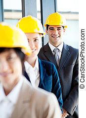 portrait, directeur, construction, groupe