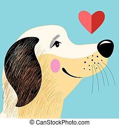 portrait dog lover