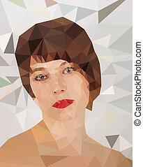 portrait - Low poly abstract portrait