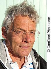 Portrait elderly man