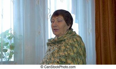Portrait elderly woman.