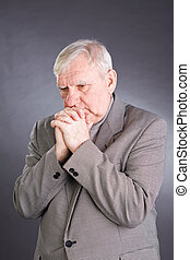 Portrait emotional elderly men