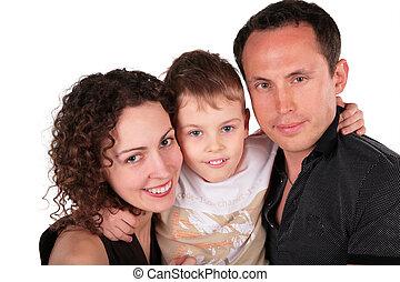 portrait, famille, fils