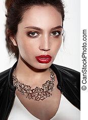 Portrait, fashion makeup.