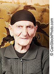 portrait, femme aînée