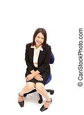 portrait, femme, affaires asiatiques