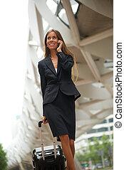 portrait, femme, affaires modernes