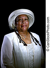 portrait, femme, african-american