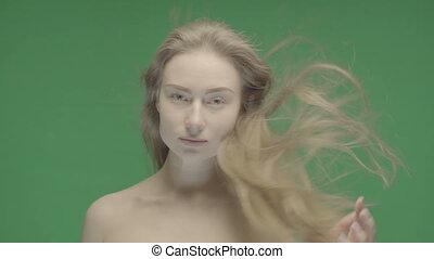 portrait, femme, beauté, figure