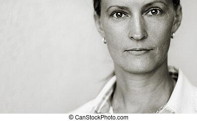 portrait, femme