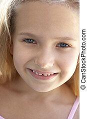 portrait, fille souriant