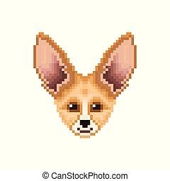 portrait, fox., mignon, fennec