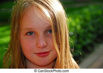 Portrait girl child summer