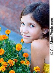 Portrait girl outdoor