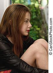 Portrait girl teenager