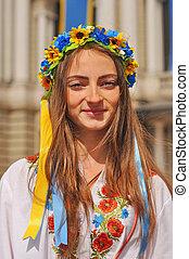 portrait, girl, ukrainien