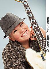 Portrait Guitar Girl