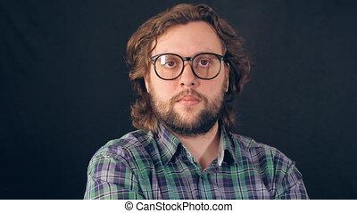 portrait handsome caucasian male