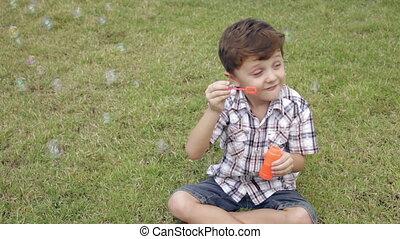 Portrait happy little boy