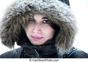 portrait, hiver