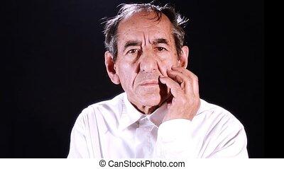 portrait, homme âgé