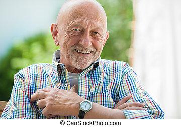 portrait, homme aîné