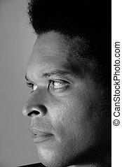 portrait, homme africain