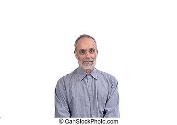 portrait, homme, age moyen