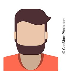 portrait, homme, anonyme, icône