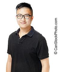 portrait, homme asiatique